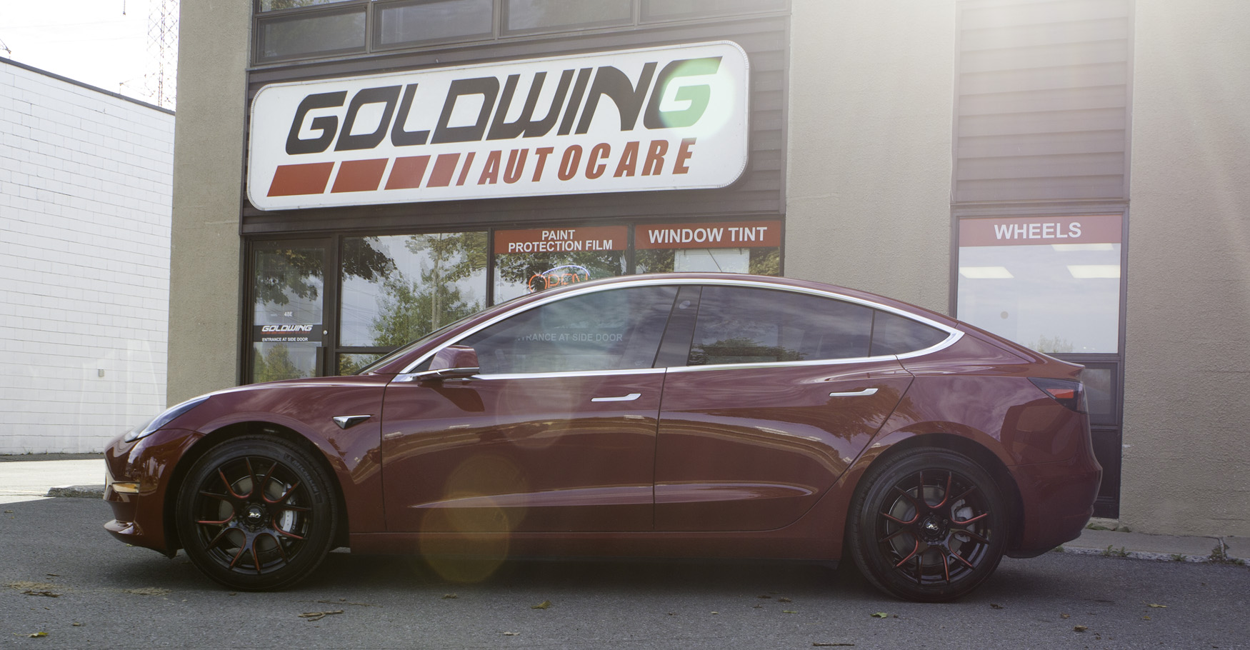 Tesla Model 3 XPEL ULTIMATE PLUS Paint Protection - Goldwing | Ottawa